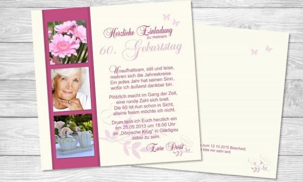 """Einladungskarten Geburtstag """"Jahreskreise"""""""