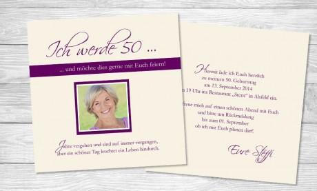 """Einladungskarten Geburtstag """"Ein schöner Tag"""""""