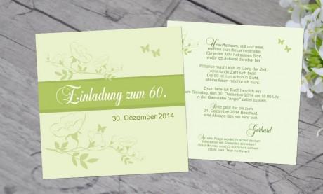 """Einladungskarten Geburtstag """"Runde 60 II"""""""