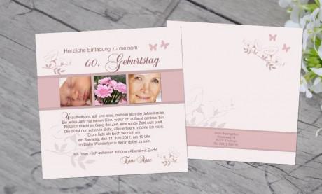 """Einladungskarten Geburtstag """"Gang der Zeit"""""""