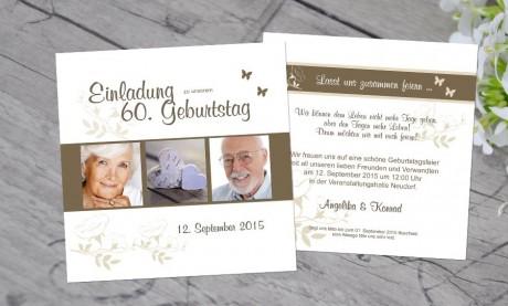 """Einladungskarten Geburtstag """"Lasst uns feiern"""""""