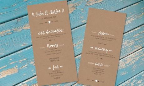 """Hochzeitseinladungskarte """"Must have"""""""