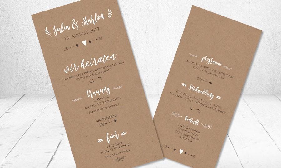 Hochzeitseinladungskarte Must Have