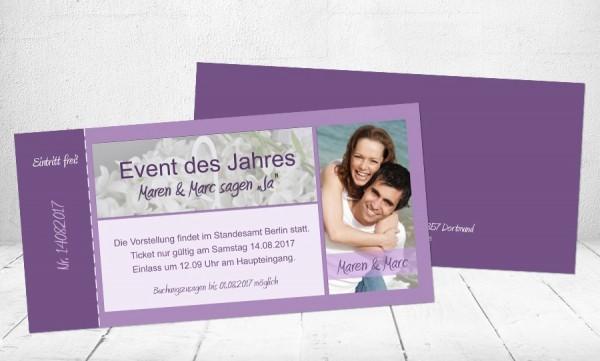 """Hochzeitseinladungen mit Foto """"Event des Jahres"""""""