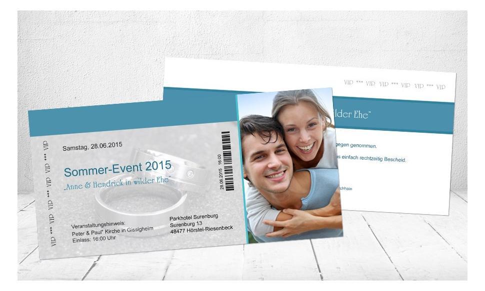 """Hochzeitseinladungen mit Foto """"VIP Hochzeit"""""""