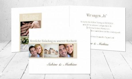 """Hochzeitseinladungen Karten """"Liebeszauber"""""""
