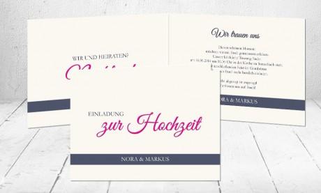 """Hochzeitseinladungen Karten """"Wir trauen uns"""""""