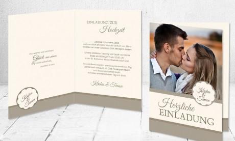 """Hochzeitseinladungen Karten """"Glück des Lebens"""""""