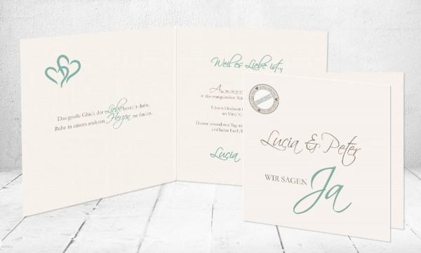 """Einladungskarten Hochzeit """"Für immer du"""""""