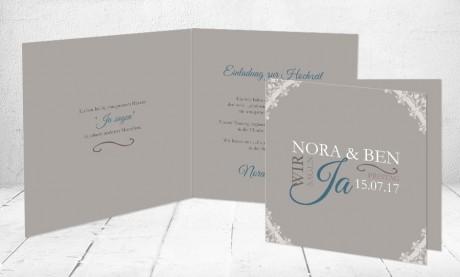 """Einladungskarten Hochzeit """"Wir sagen Ja"""""""