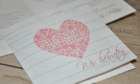 """Einladungskarten Hochzeit """"Mein Herz"""""""