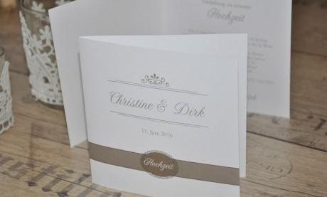 """Einladungskarten Hochzeit """"Melodie"""""""