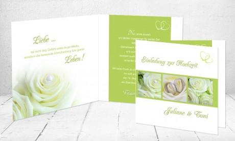"""Einladungskarten Hochzeit """"Rosenzauber"""""""