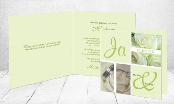 """Einladungskarten Hochzeit """"Ja und"""""""
