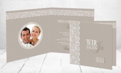 """Einladungskarten Hochzeit """"Vintagezauber"""""""