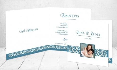 """Einladungskarten Hochzeit """"Ruhe im Herzen"""""""