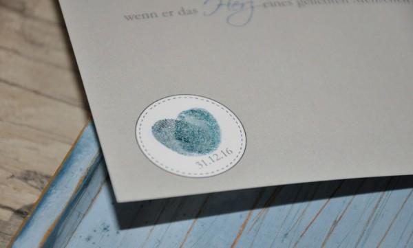 """Einladungskarten Hochzeit """"Fingerprint"""""""