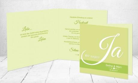 """Einladungskarten Hochzeit """"Liebe"""""""