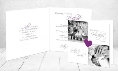 """Einladungskarten Hochzeit """"Mädchentraum"""""""
