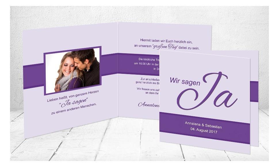 """Einladungskarten Hochzeit """"Wir zwei"""""""