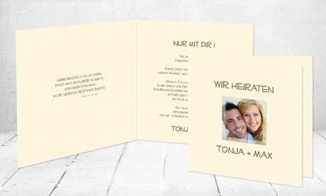 """Einladungskarten Hochzeit """"Nur mit dir"""""""