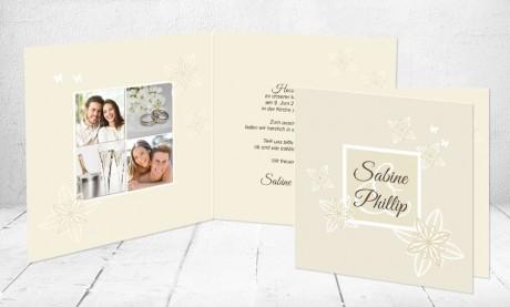 """Einladungskarten Hochzeit """"Verliebt"""""""