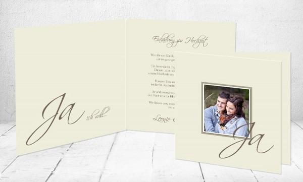 """Einladungskarten Hochzeit """"Ja ich will"""""""