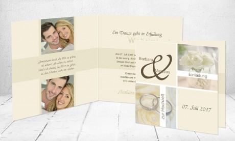 """Einladungskarten Hochzeit """"Ein Traum"""""""