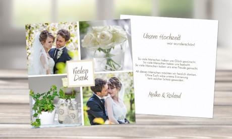 """Danksagungskarten Hochzeit """"Romantik"""""""