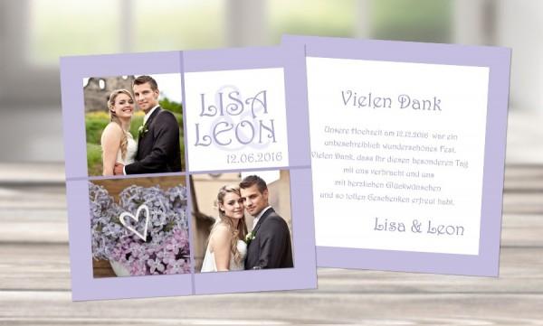 """Danksagungskarten Hochzeit """"Eheglück"""""""
