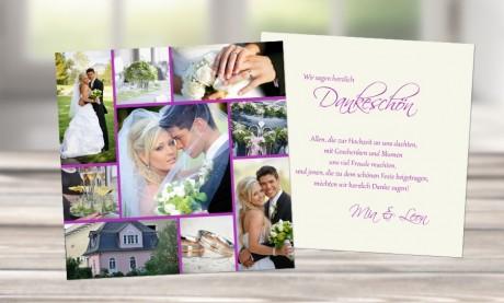 """Danksagungskarten Hochzeit """"Collage"""""""