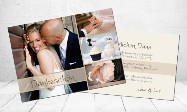 """Danksagungskarten Hochzeit """"Mr. & Mrs."""""""