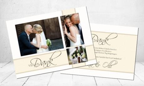 """Danksagungskarten Hochzeit """"Hochzeitstauben"""""""
