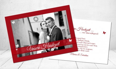 """Danksagungskarten Hochzeit """"Unsere Hochzeit"""""""