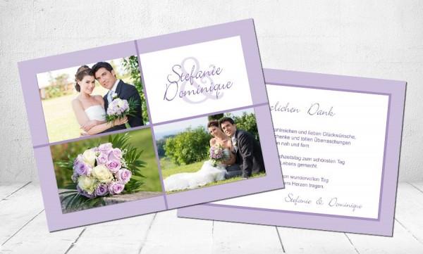 """Danksagungskarten Hochzeit """"Brautstrauß"""""""