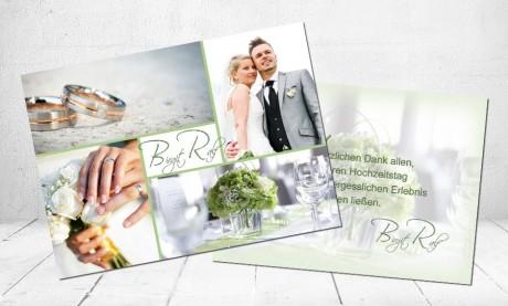 """Danksagungskarten Hochzeit """"Trauringe"""""""
