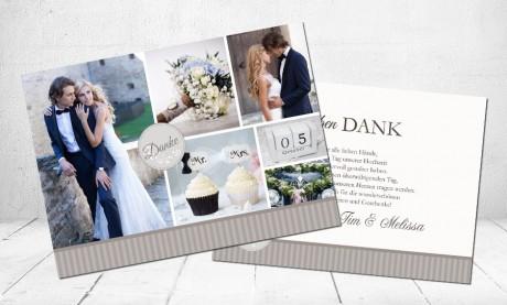 """Danksagungskarten Hochzeit """"Märchenhochzeit"""""""