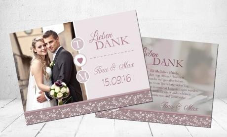 """Danksagungskarten Hochzeit """"Märchenprinz"""""""