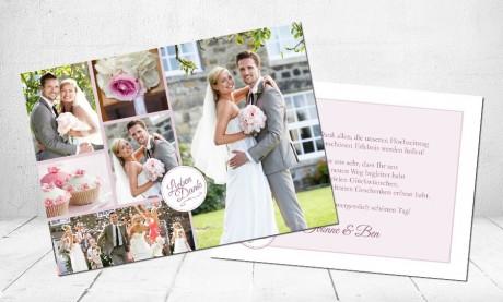 "Danksagungskarten Hochzeit ""Love story"""