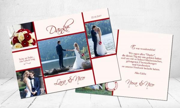 """Danksagungskarten Hochzeit """"Hand in Hand"""""""