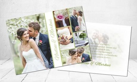 """Danksagungskarten Hochzeit """"Ein Traum"""""""
