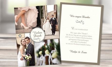 """Danksagungskarten Hochzeit """"Glückseligkeit"""""""