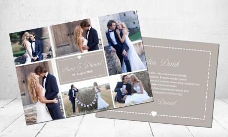 """Danksagungskarten Hochzeit """"just married"""""""