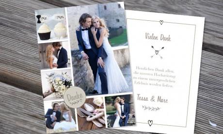 """Danksagungskarten Hochzeit """"Verführerisch"""""""