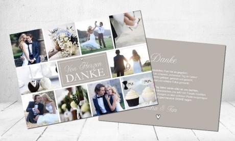 """Danksagungskarten Hochzeit """"Happy Day"""""""