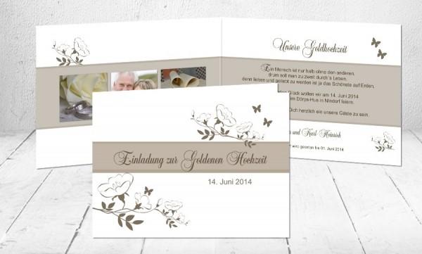 """Einladungskarten Goldhochzeit """"Goldglanz"""""""