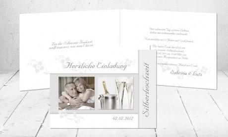 """Silberhochzeitskarten Einladung """"Ein Grund zum Feiern"""""""