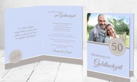 """Einladungskarten Goldhochzeit """"50 Jahre Eheglück"""""""