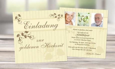 Einladungskarten Goldhochzeit   Sag Es Mit Karten, Kreative Einladungen
