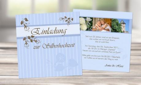 """Einladungen zur Silberhochzeit """"Silberhochzeit"""""""